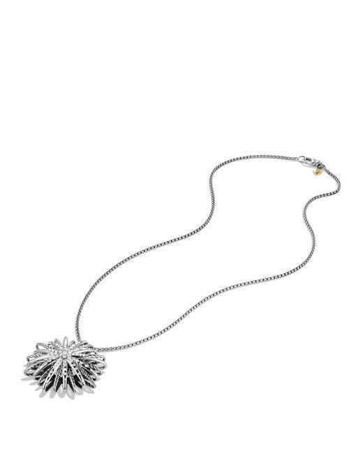 David Yurman | Metallic Starburst Large Pendant With Diamonds On Chain | Lyst
