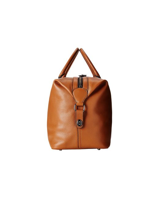 COACH | Brown Pebbled Leather Explorer Duffel for Men | Lyst