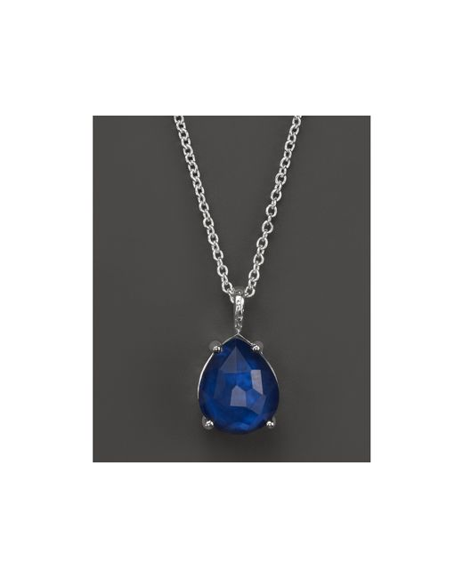 Ippolita | Blue Wonderland Pear Shape Necklace In Midnight, 16-18"