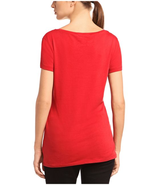 BOSS Orange | Red Slim-fit T-shirt In Cotton Blend With Modal: 'tafame' | Lyst