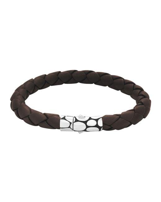 John Hardy   Brown Woven Bracelet for Men   Lyst