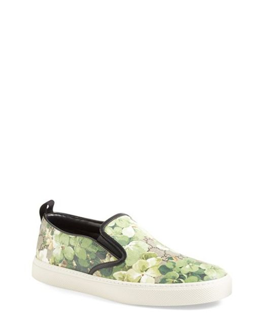 Gucci | Green Dublin Printed Slip-On Sneakers for Men | Lyst