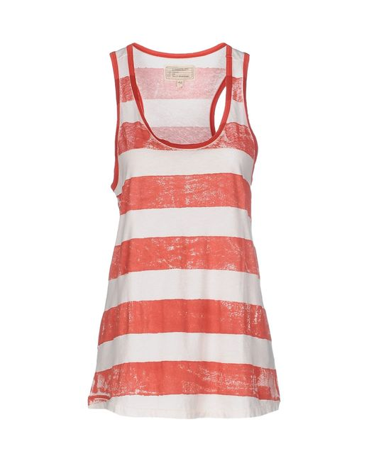 Current/Elliott | Red Tank Top | Lyst
