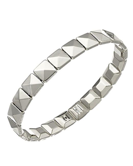 Chimento   Metallic 18k White Gold Armillas Collection Square Link Bracelet   Lyst