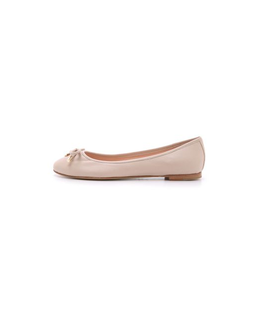 Kate spade new york willa flats in pink lyst for Kate spade new york flats