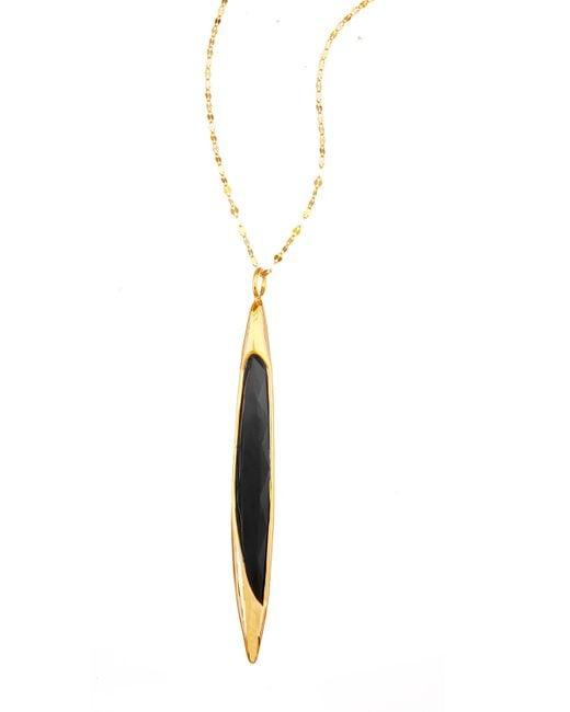 Lana Jewelry | Yellow 14k Elite Jet Spike Pendant Necklace | Lyst