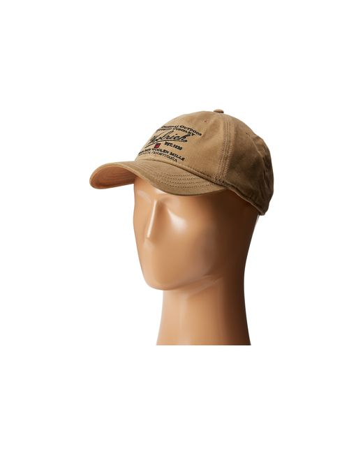Woolrich | Brown Oil Cloth Ball Cap With Embroidery for Men | Lyst