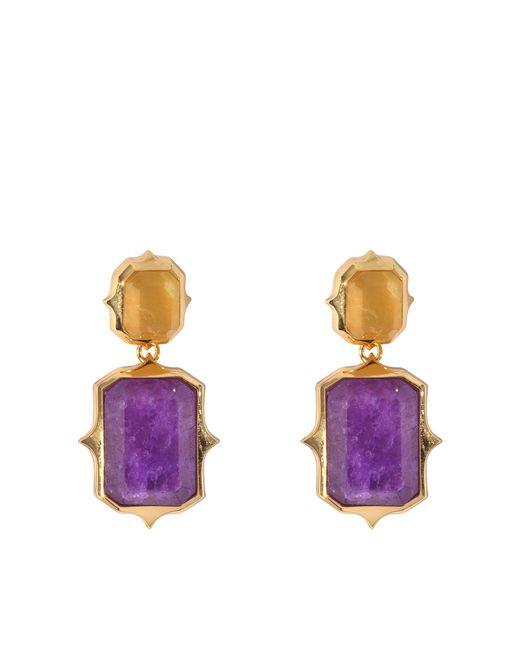 Isharya | Purple Pastel Rani Earrings | Lyst