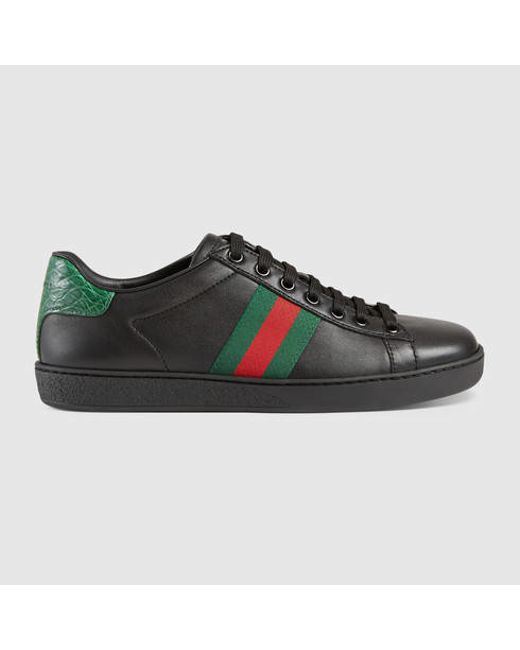 Gucci   Multicolor Ace Leather Low Top Sneaker   Lyst