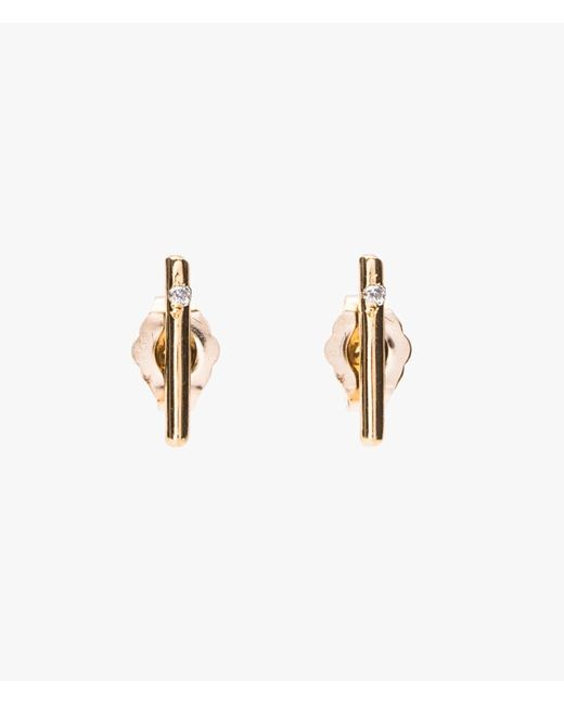 Loren Stewart | Metallic Small Rods Gold W/ Diamonds | Lyst