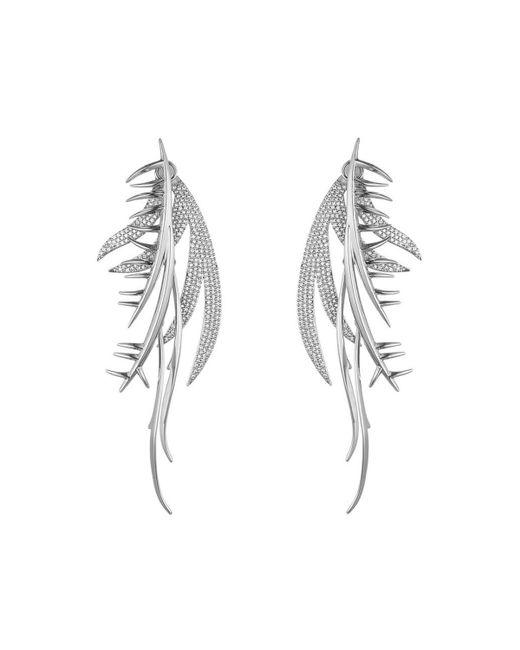 Eddie Borgo | Blue Pavé Crystal Frond Ear Piece | Lyst