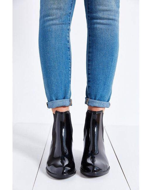 Jeffrey Campbell Stormy Rain Boot In Black Lyst