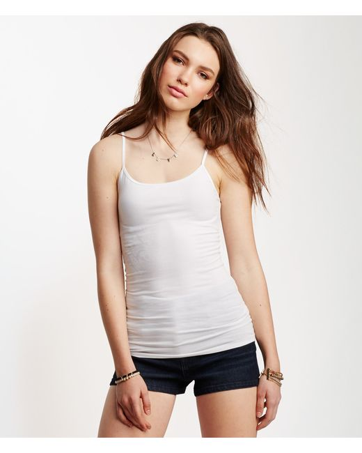 Aéropostale | White Solid Basic Cami | Lyst
