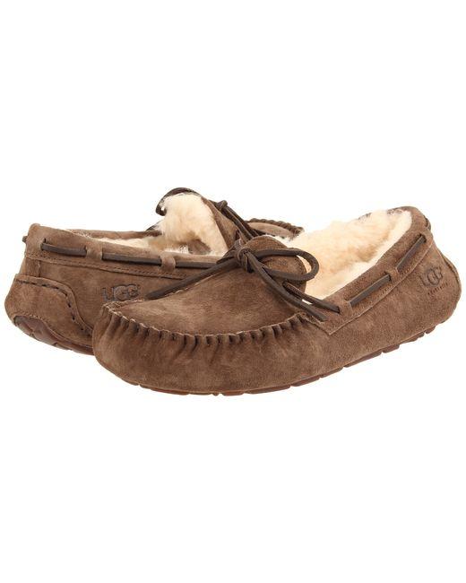 UGG   Brown ® Alena Bow Detail Waterproof Suede Slippers   Lyst
