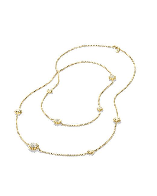 David Yurman | Metallic Starburst Station Chain Necklace With Diamonds In 18k Gold | Lyst