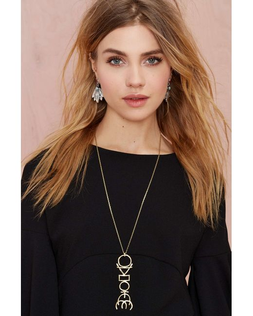 Nasty Gal | Metallic Species By The Thousands Totem Necklace | Lyst
