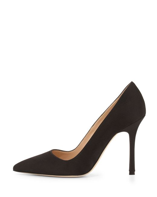 Manolo Blahnik | Black Bb Satin 105mm Pump | Lyst