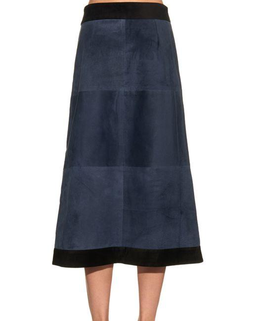 sea suede wrap skirt in blue navy lyst