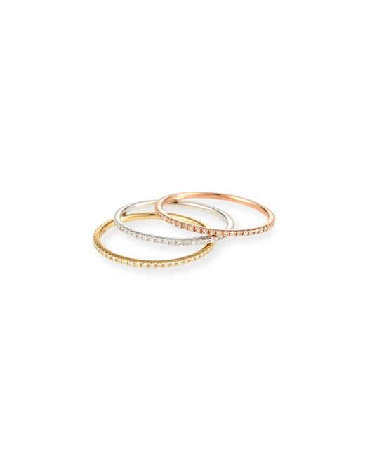 EF Collection | Metallic Diamond Eternity Stackable Ring | Lyst
