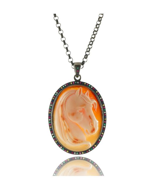 Amedeo | Orange Amedeo Horse Pendant | Lyst