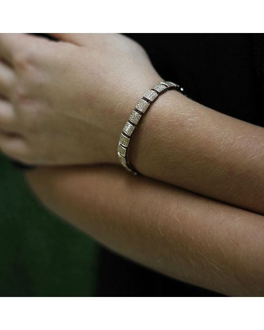 Shamballa Jewels | Metallic Cognac Diamond Lock Bracelet | Lyst