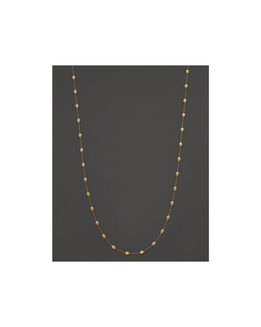 Marco Bicego | Metallic 18k Gold Siviglia Small Bead Necklace, 39"