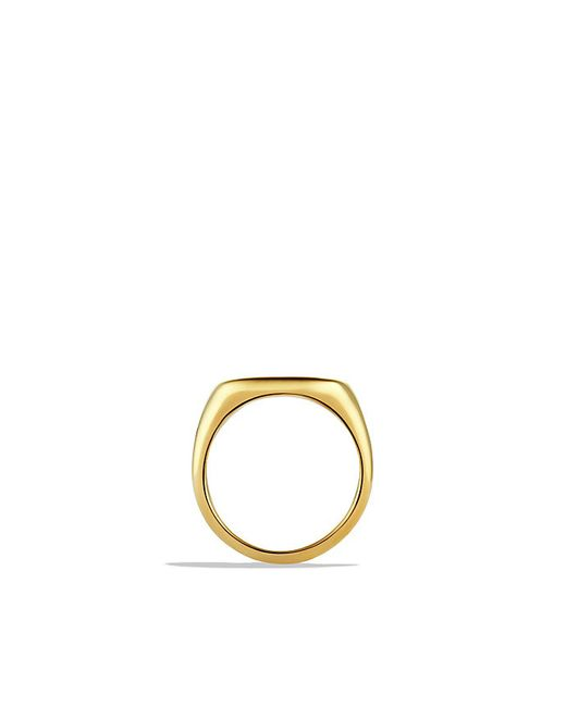 David Yurman | Metallic Pinky Ring In 18k Gold | Lyst