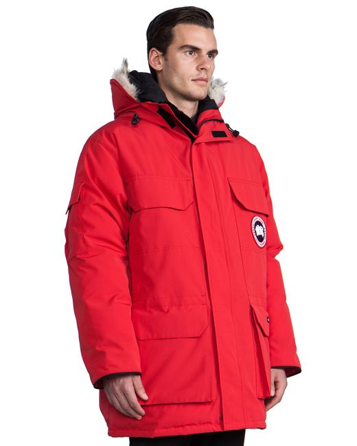 Canada Goose kensington parka outlet discounts - Canada goose Expedition Parka With Coyote Fur Trim in Red for Men ...