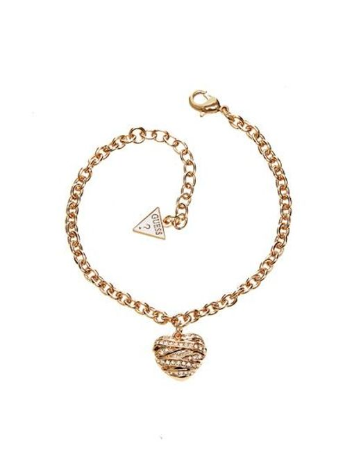 Guess | Metallic Wrapped With Love Bracelet | Lyst