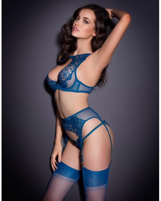 Agent provocateur Cassia Suspender Blue in Blue