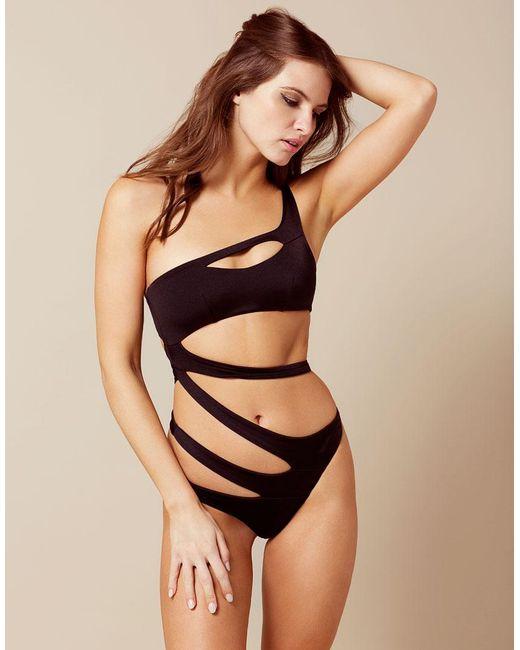 Agent Provocateur Lexxi Swimsuit Black in Black - Lyst 42a190134