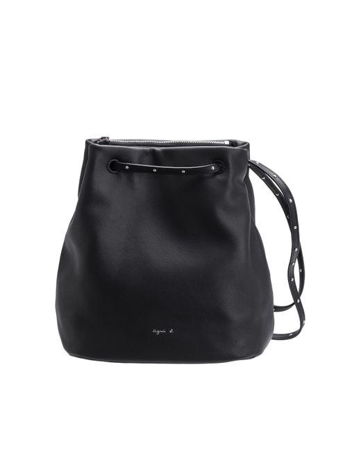 Agnes B Black Leather Bucket Bag Lyst