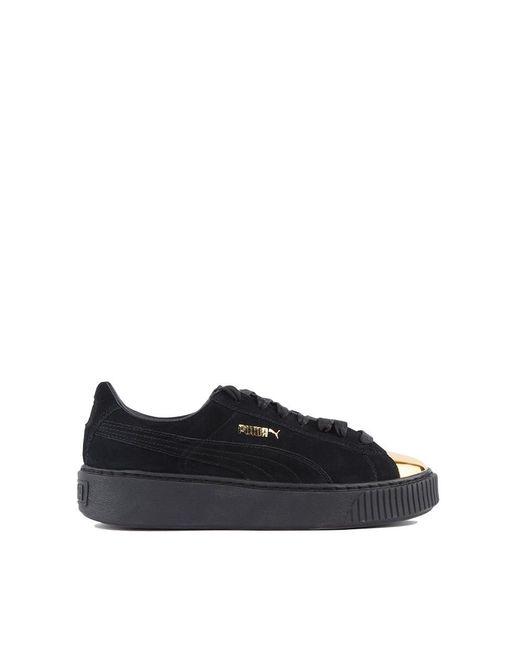 puma gold cap toe creepers in black lyst. Black Bedroom Furniture Sets. Home Design Ideas