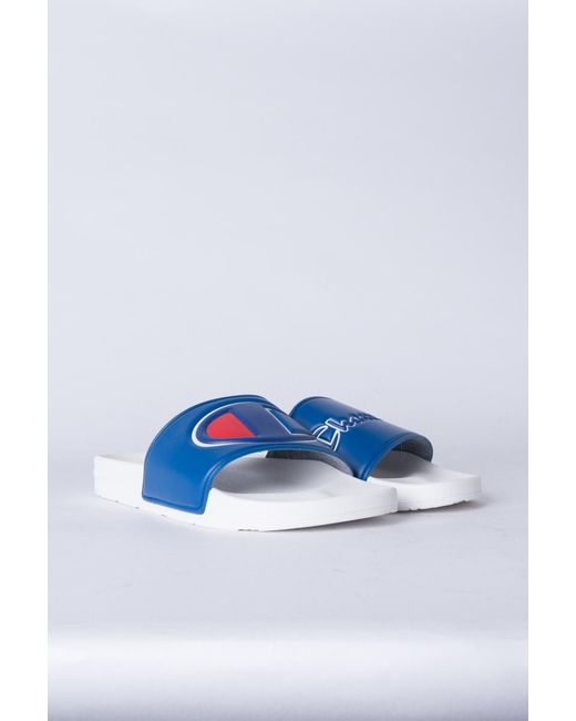 630f6402dedee ... Champion - Multicolor Womens Ipo Script And Big C Logo Slide Sandal -  Lyst ...