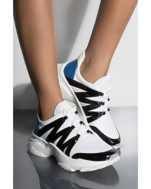 Akira - White Steve Madden Heartless Novelty Flat Sneaker - Lyst