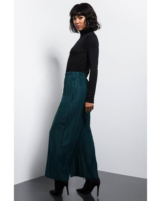 21f9270f4e ... Akira - Green Please Me Wide Leg Pleated Pant - Lyst ...