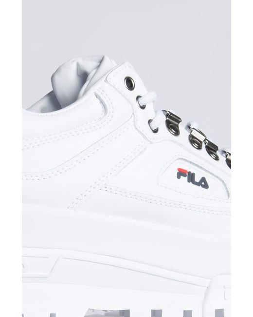 new concept 66f31 1d130 Trailblazer Lyst In Save 7 White Sneakers Fila Wedge ATwg7T