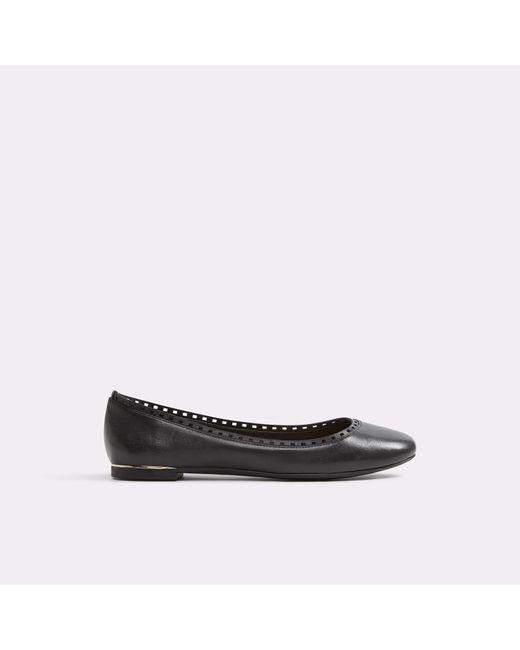 ALDO | Black Kaydien Leather Ballerina Flats | Lyst