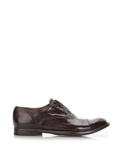 Officine Creative | Dark Brown Brushed Leather Derby Shoes for Men | Lyst