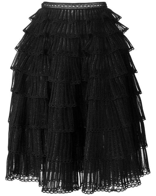 Alexander McQueen | Black Tiered Skirt | Lyst