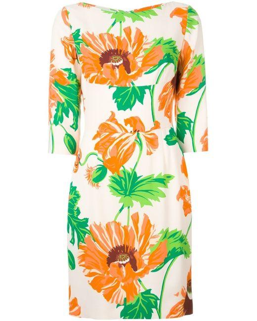 Stella McCartney | Green Poppies Print Dress | Lyst