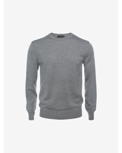 Alexander McQueen | Blue Knitted Shawl Collar Sweater for Men | Lyst