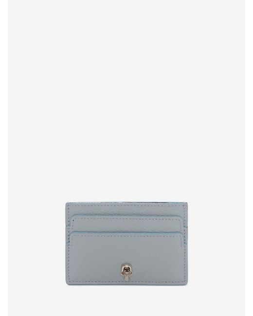 Alexander McQueen | Gray Leather Skull Card Holder | Lyst