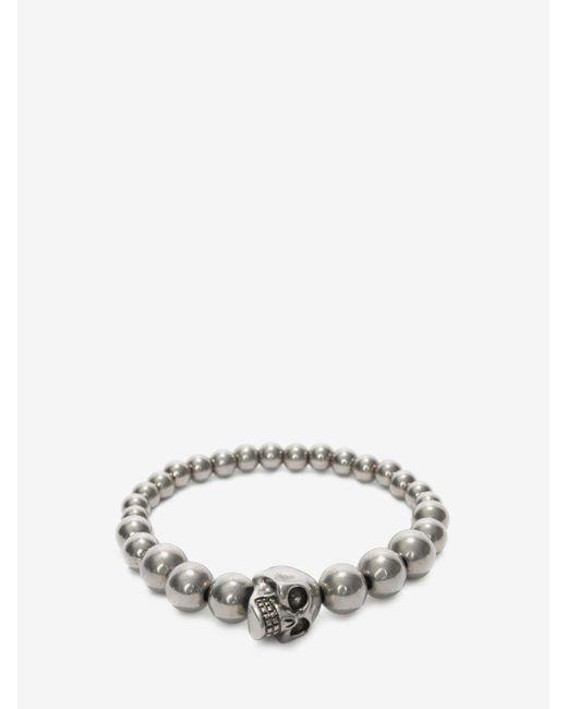 Alexander McQueen   Metallic Skull Multibeaded Bracelet   Lyst