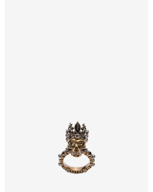 Alexander McQueen | Metallic Queen Skull Ring | Lyst