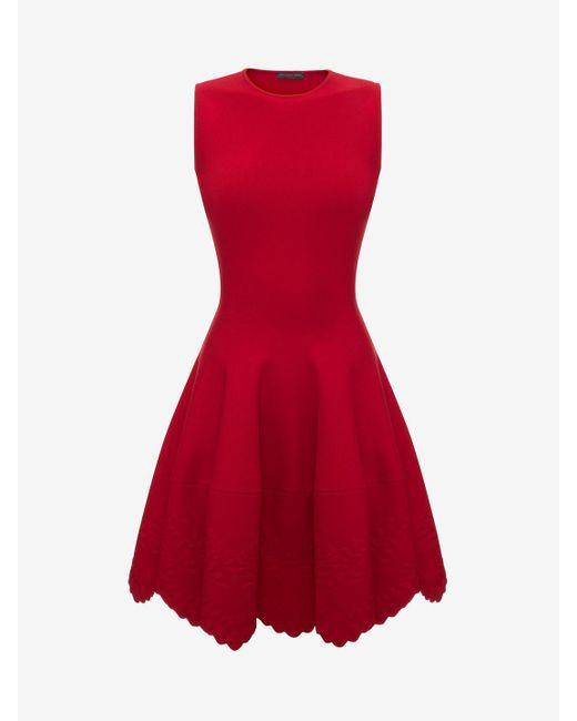 Alexander McQueen | Knitted Flared Dress | Lyst