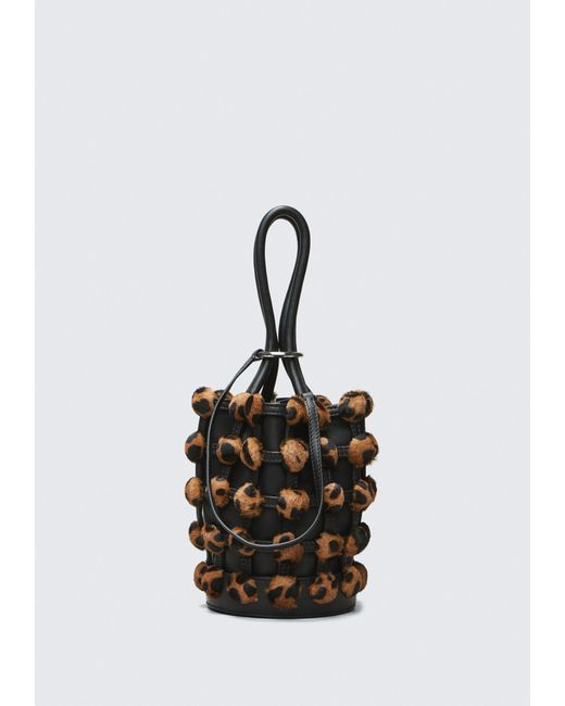 Alexander Wang - Black Caged Roxy Mini Bucket - Lyst