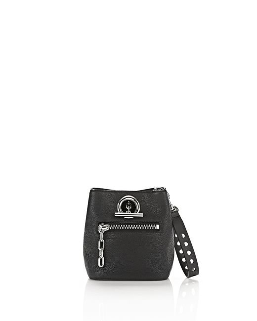Alexander Wang - Riot Cross Body Bag In Pebbled Black With Rhodium - Lyst