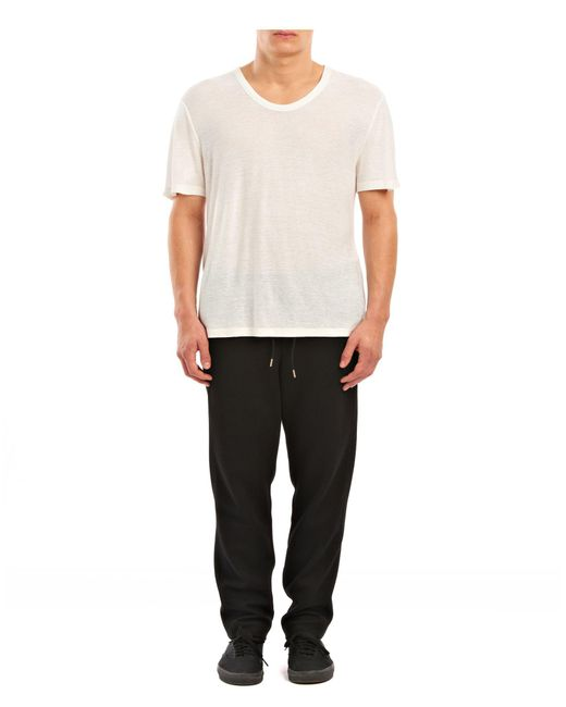 T By Alexander Wang | Natural Slub Rayon Silk Low Necktee for Men | Lyst