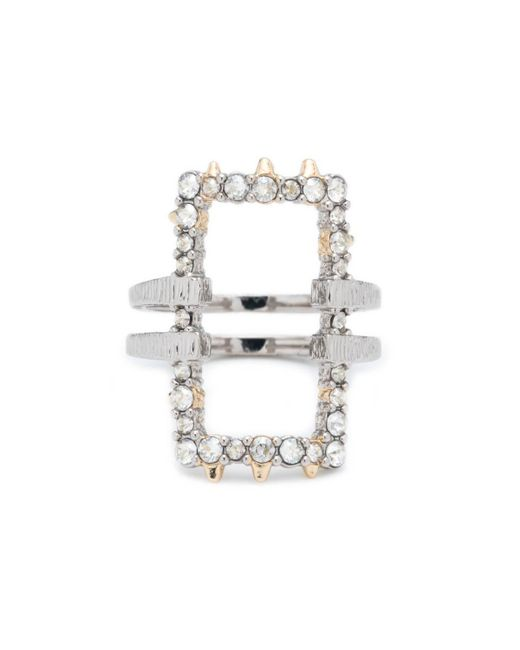Alexis Bittar | Metallic Crystal Encrusted Oversize Link Ring You Might Also Like | Lyst